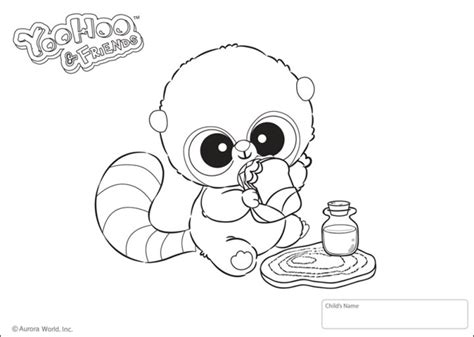 yoo hoo friends coloring pages