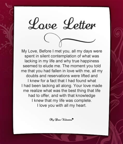 Letter To My Sweetheart Letters For Letter For Mydearvalintine