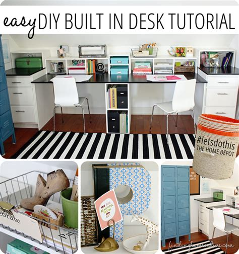 Diy Easy Desk Easy Diy Built In Desk Tutorial Finding Home Farms