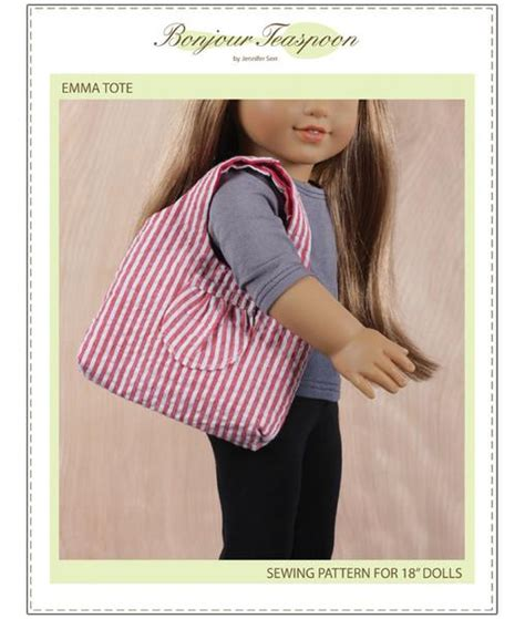doll tote bag pattern emma tote bag pattern pdf download 18 inch dolls such as