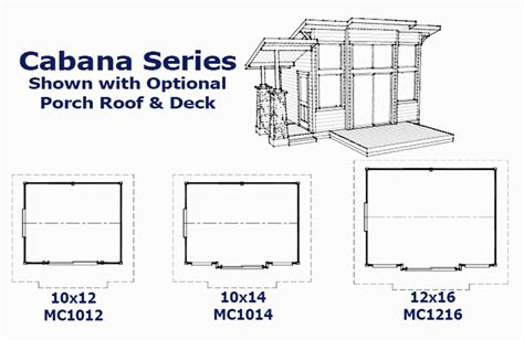 Cabana Plans | mighty cabanas and sheds pre cut cabins sheds play