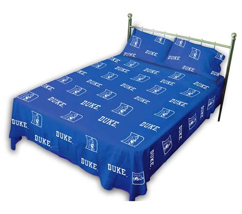 Duke Bedding Set Collegiate Blue Devils Sheet Set Blue Ncaa Duke Bedding Sheets Bed