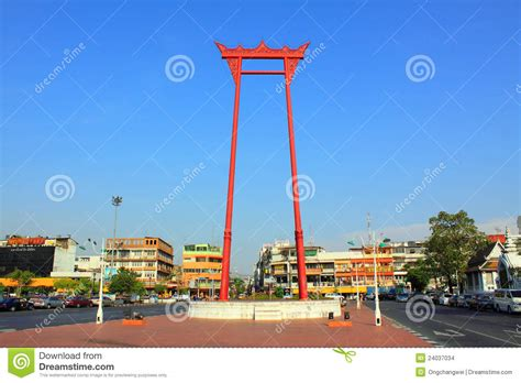 thai swing bangkok landmark giant swing editorial stock image