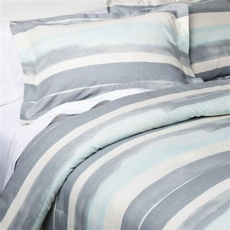 nate berkus watercolor stripe comforter set