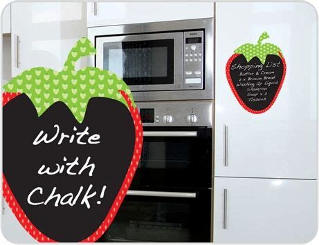 Wall Sticker Zs092 Strawberry In Garden quot removable strawberry chalkboard wall sticker