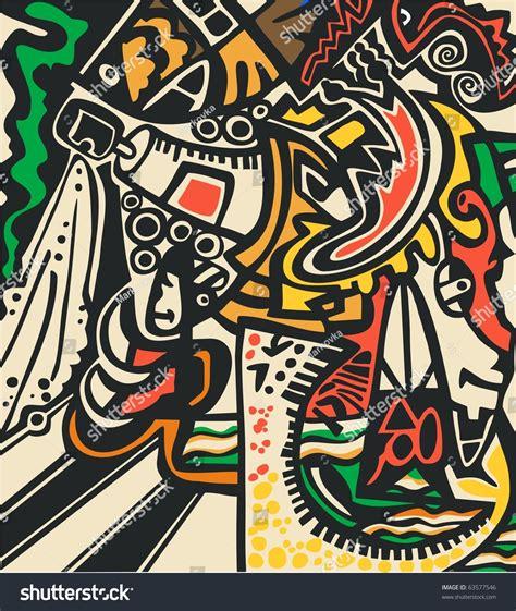 abstract graffiti pattern abstract design in graffiti style stock photo 63577546