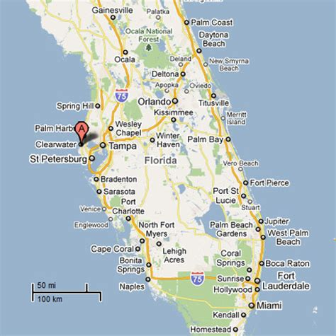 clearwater florida on map map of clearwater florida swimnova
