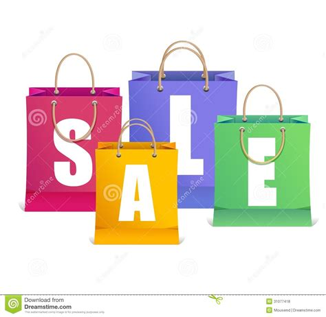 Sale Bag 268 Glosy vector sale labels like shopping bag stock vector image