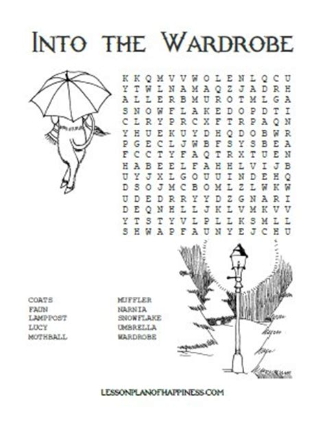 into the wardrobe free narnia word search homeschool