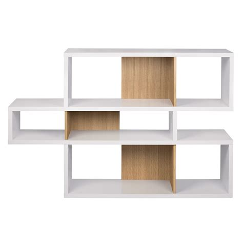 Temahome London Modern White Oak Bookcase Eurway White Oak Bookcase