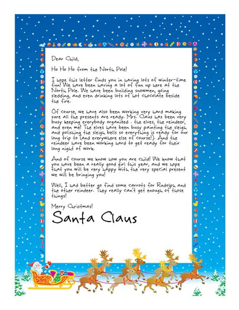 free printable baby s first letter from santa free printable letters from santa for baby s first
