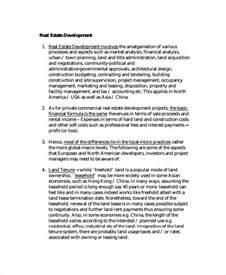 Real Estate Development Template sle real estate template 9 free documents