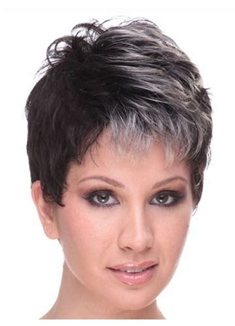 hairstyles for slightly grey highlighted hair grey highlight hairstyle fashion wigs world pinterest