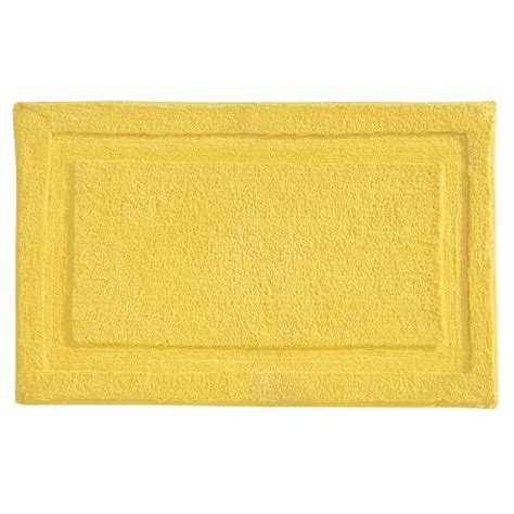 yellow bath rug interdesign microfiber spa bathroom accent rug 34 x 21 yellow 081492170662 toolfanatic