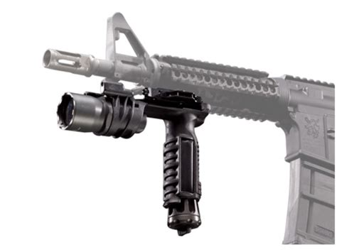 vertical grip with light surefire m900a vertical foregrip light xenon blue led