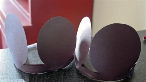 How To Make Mickey Mouse Ears With Construction Paper - espa 231 o infantil orelhas do mickey mouse passo a passo
