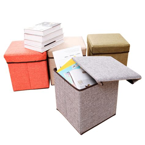 4 foot square ottoman square folding canvas fabric storage stools ottomans seat