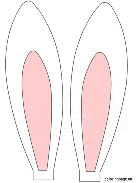 bunny ears template easter rabbit ears coloring page