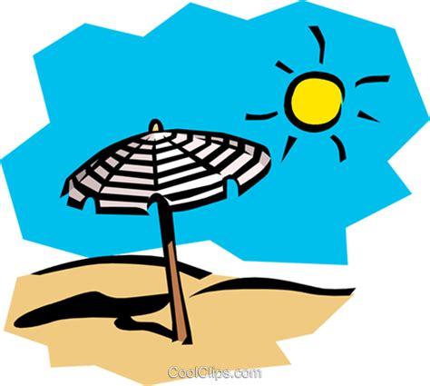 clipart mare dia ensolarado na praia livre de direitos vetores clip