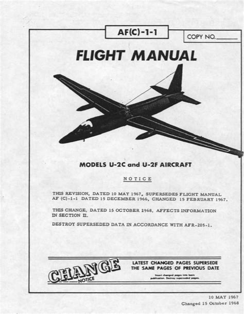 by order of the air force manual 65 604 u s air force u 2 spy plane flight manual may 1967