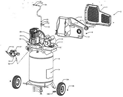 sears craftsman  air compressor parts craftsman parts
