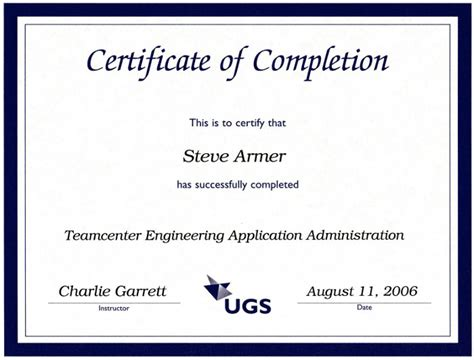certificate of completion ojt template imts2010 info