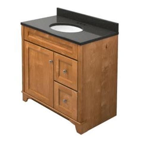Home Depot Kraftmaid Bathroom Vanity Kraftmaid 36 In Vanity In Praline With Quartz