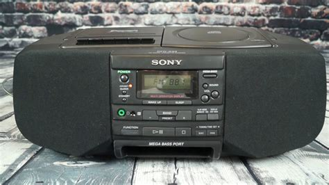 sony cfd s33 black cd player stereo boombox alarm clock cassette multi function