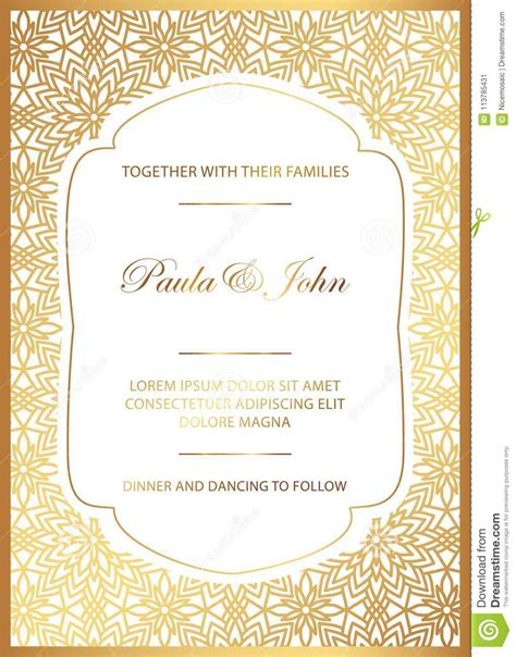 Stylish Gold And White Wedding Card Royal Vintage Wedding Invitation Template Save The Date White And Gold Invitation Templates
