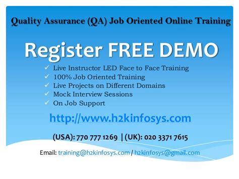 tutorial online job qa online training placement free demo