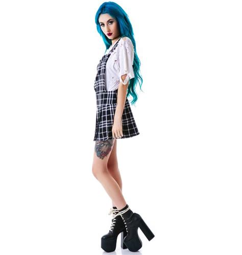 Plaid Jumper Dress tripp nyc plaid jumper dress dolls kill