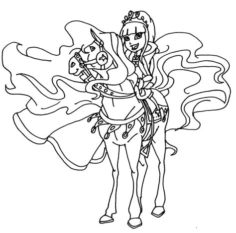 horseland coloring pages horseland princess by elfkena on deviantart
