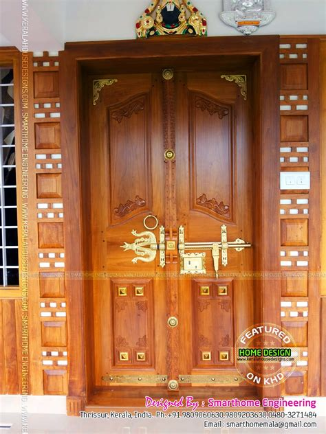 kerala style door designs manichitrathazhu studio