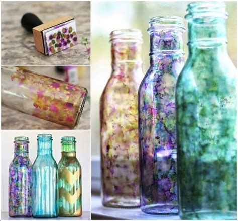 cool ways decorate glass bottles
