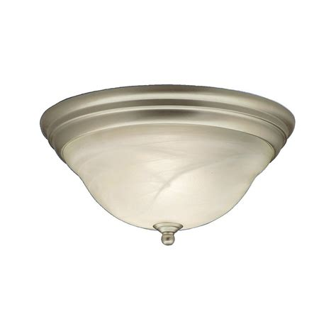 shop kichler lighting telford 14 in w brushed nickel