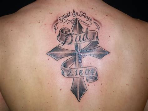 tattoo designs dad memorial back memorial