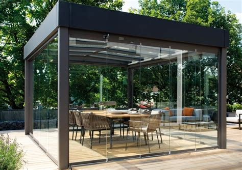 flachdach pavillon aluminium solit 228 r im bauhaus stil das flachdach glashaus atrium