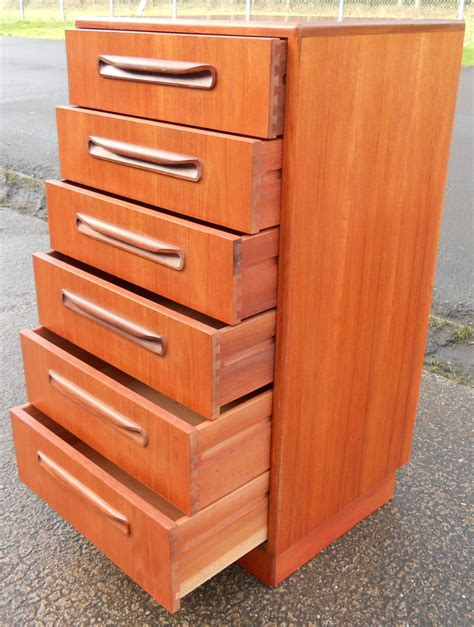 tall shallow chest of drawers tall narrow teak chest of six drawers by g plan