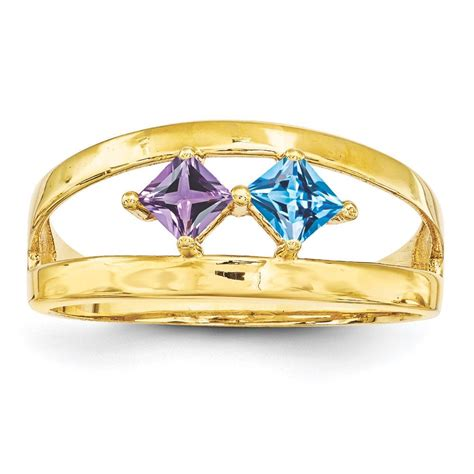 carinagems 14k gold 1 to 4 square stones s ring