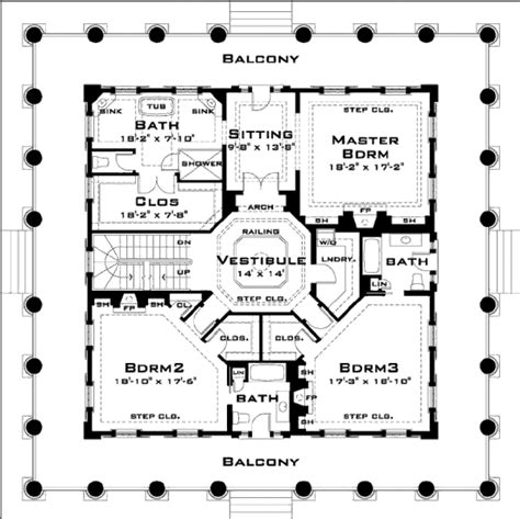 oak alley plantation floor plan classical style house plan 3 beds 3 5 baths 4500 sq ft