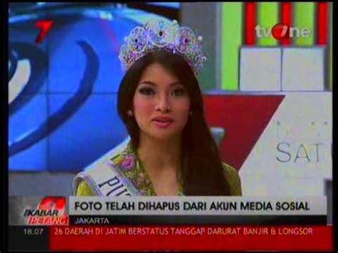 Kaos Palu Palu Visit 2015 exclusive klarifikasi putri indonesia 2015 tentang kaos