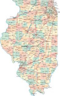 road map state illinois maps and state information