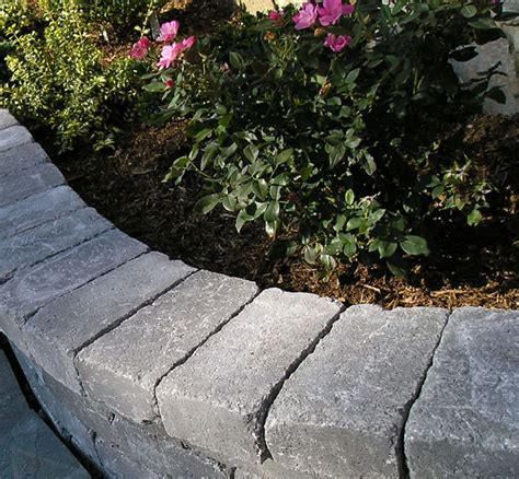 stone flower bed border bamboo garden border bed edging landscaping stone and