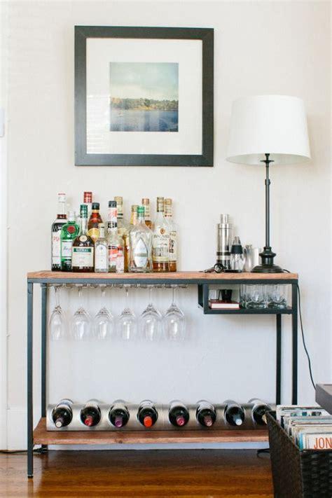 Ikea Wine Shelf by Attach Wine Bottle Holder Wood Top And Shelf Ikea Hack Bar Cart Ish