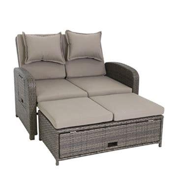 lounge gartenmöbel mit dach und tisch 3 in 1 rattan gartensofa 2 sitzer lounge sofa