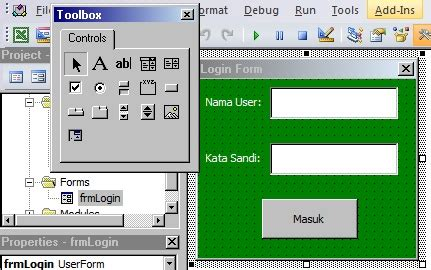 tutorial membuat form login di excel desain form vba excel
