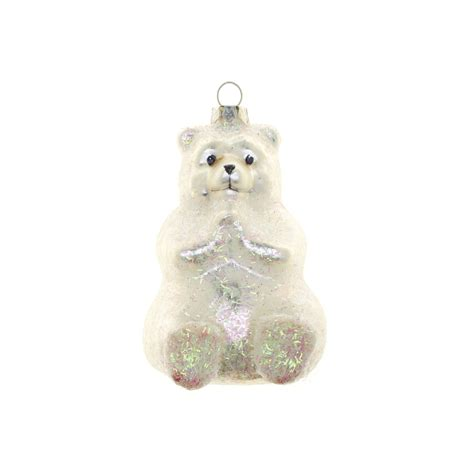 polar decorations glass polar decoration h 9 cm coincasa