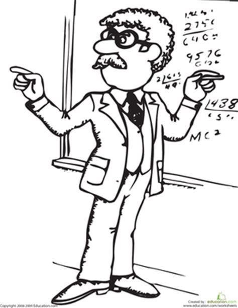 math teacher coloring pages color the math teacher worksheet education com