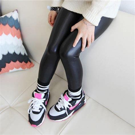 baby legging 2016 fashion length faux pu leather
