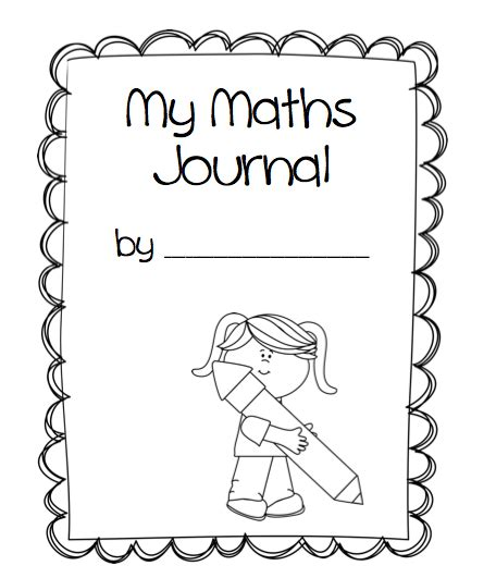 math journal coloring page 1st grade math journal cover missmernagh com